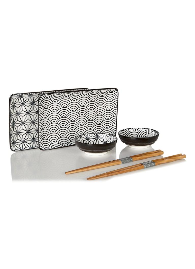 tokyo design studio nippon black sushi serviesset voor 2. Black Bedroom Furniture Sets. Home Design Ideas