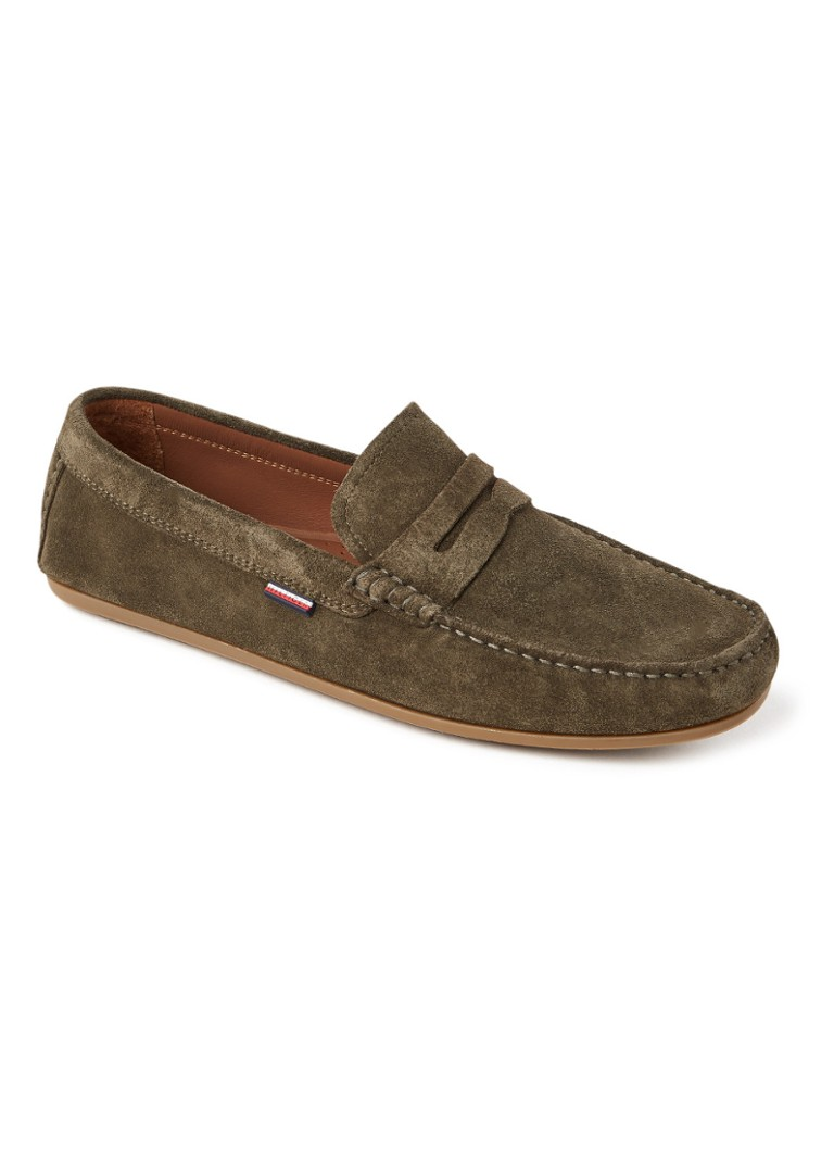 Tommy Hilfiger - Classic loafer van suède - Donkerkhaki