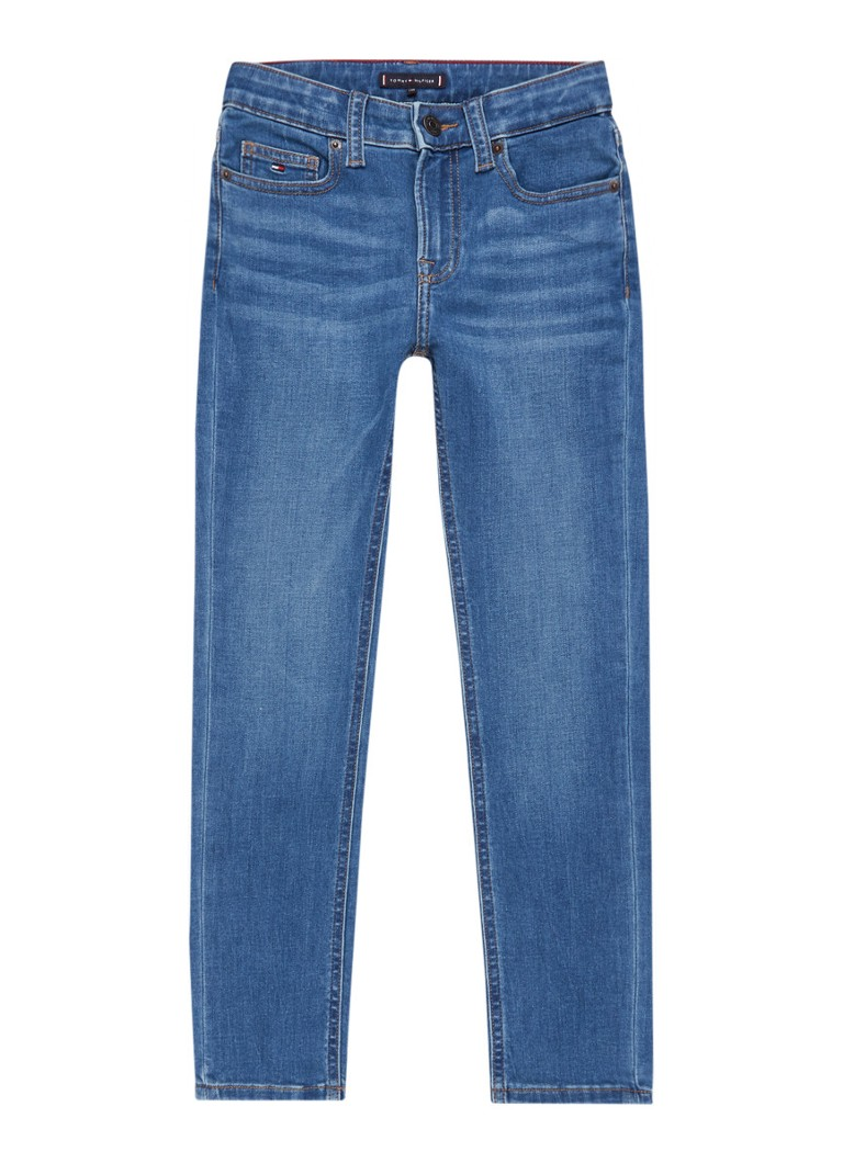 Tommy Hilfiger - Scanton slim fit jeans met faded look - Indigo