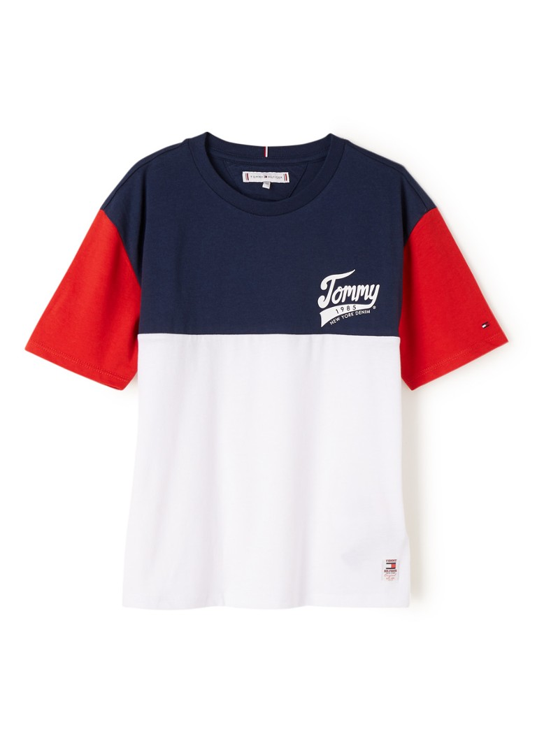 Tommy Hilfiger - T-shirt met colour blocking - Wit