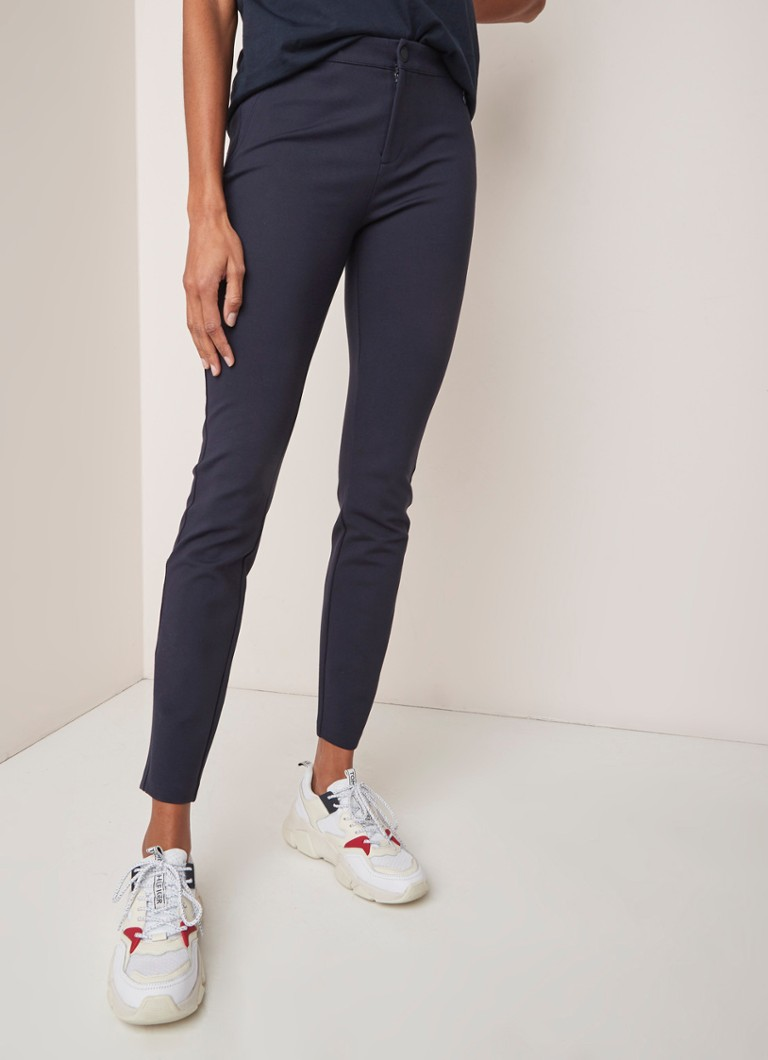 Tommy Hilfiger - Tommy Hilfiger Heritage high waist skinny fit pantalon met stretch - Donkerblauw