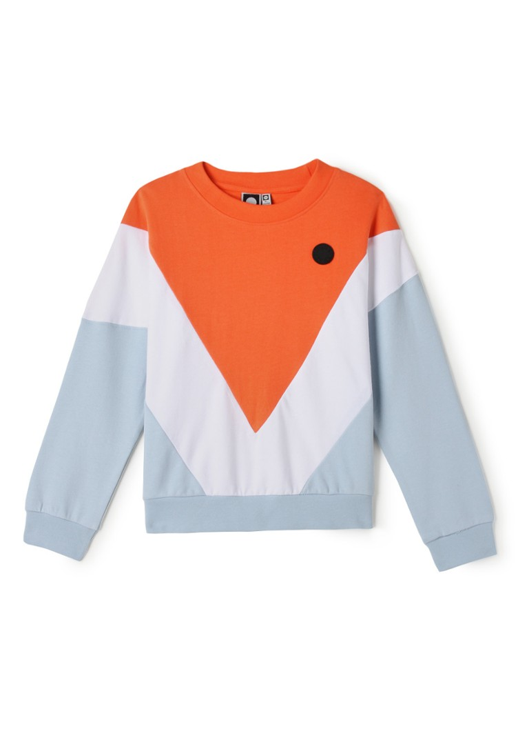 Tumble 'n Dry - Seline sweater met colour blocking - Oranje