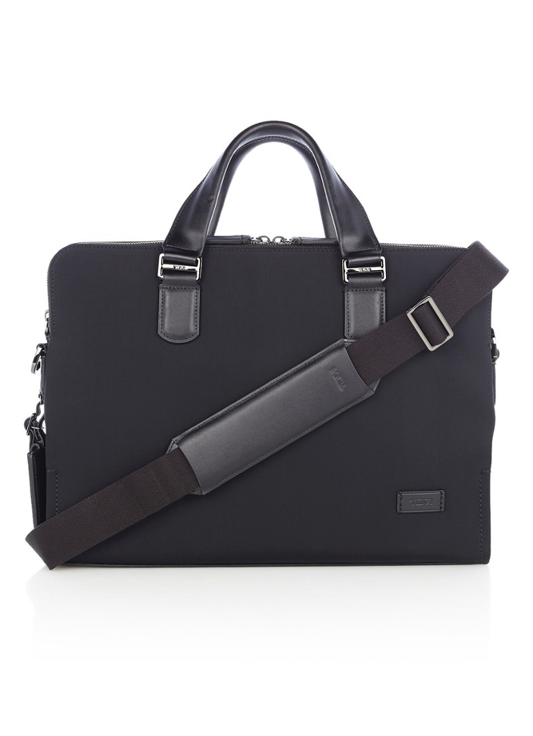 Tumi - Harrison Seneca Slim businesstas met 14 inch laptopvak - Zwart