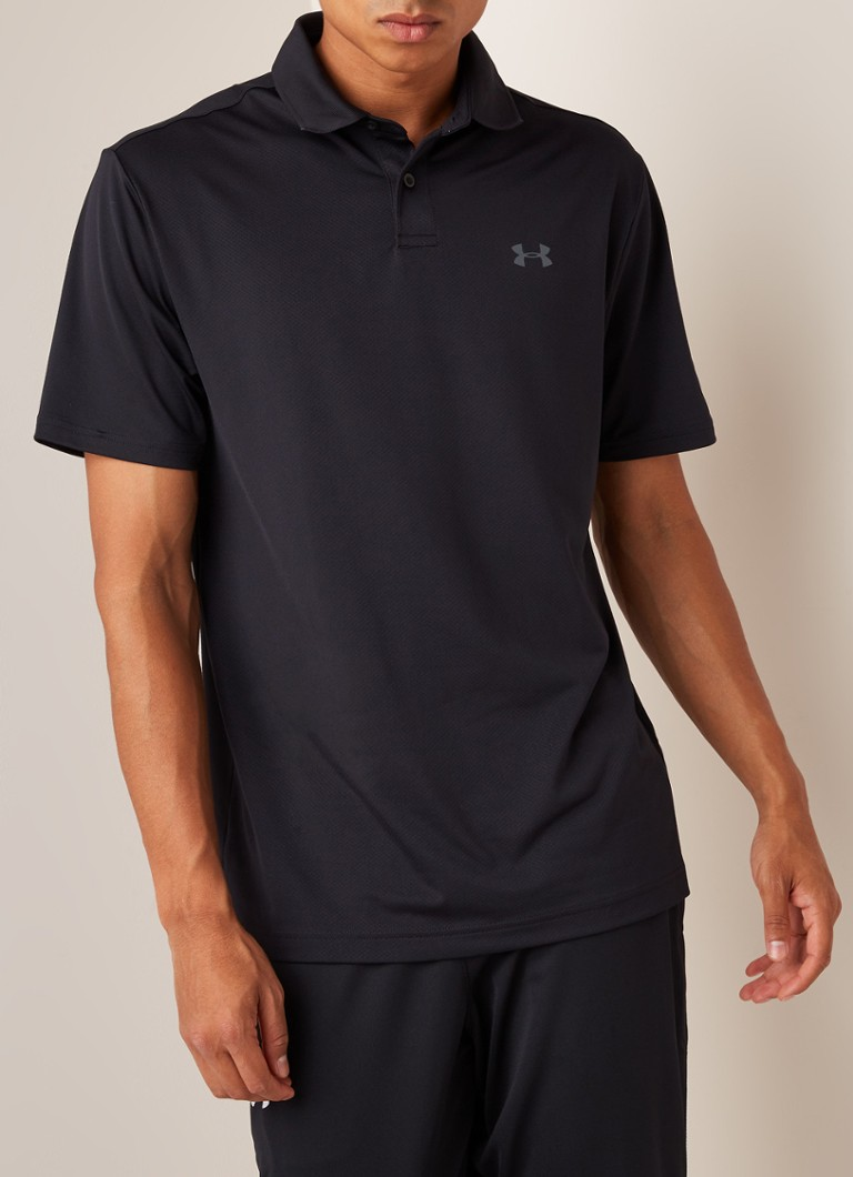 Under Armour - Performance 2.0 regular fit golf polo  - Zwart