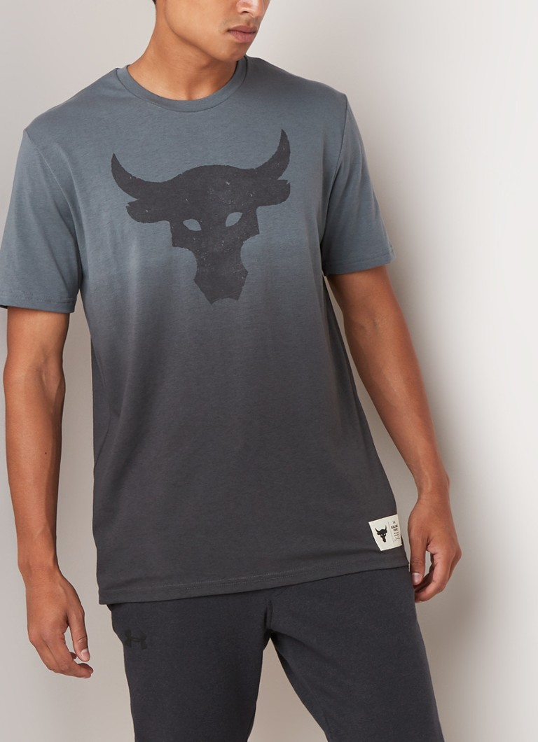 Under Armour - Project Rock Bull Graphic trainings T-shirt - Grijs