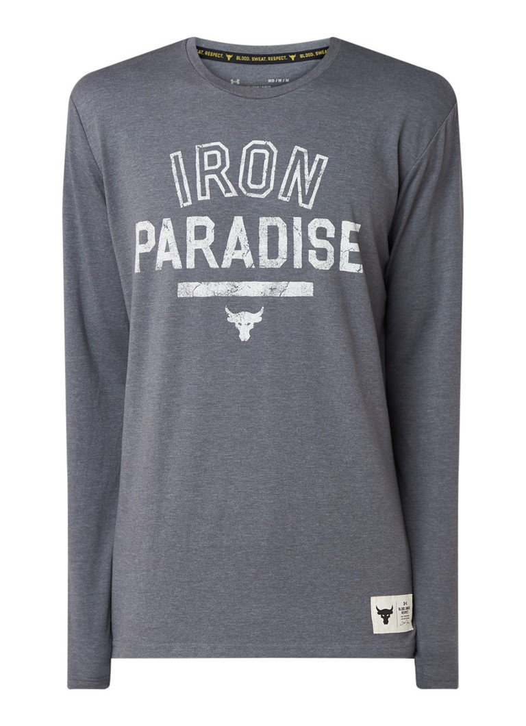 Under Armour - Project Rock Iron Paradise trainings longsleeve - Middengrijs