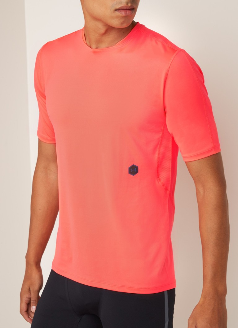 Under Armour - Rush Run hardloop T-shirt met mesh - Lichtrood