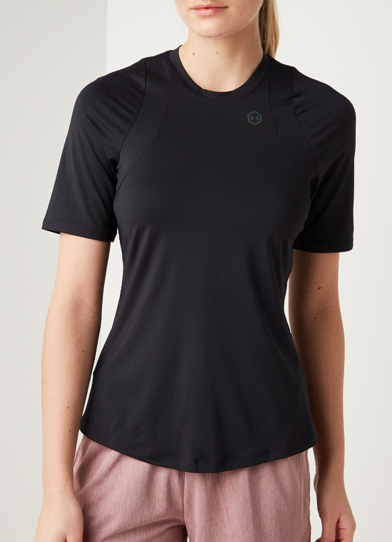 Under Armour - Rush trainings T-shirt met HeatGear - Zwart