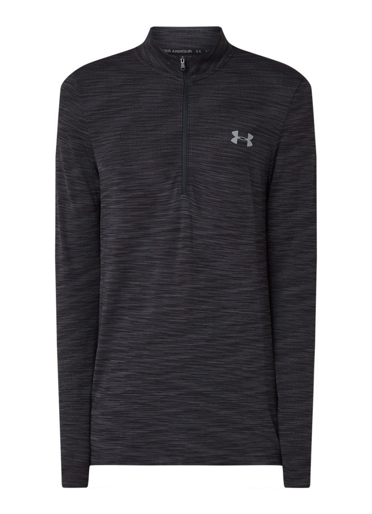 Under Armour - Vanish naadloze trainings longsleeve met halve rits - Zwart
