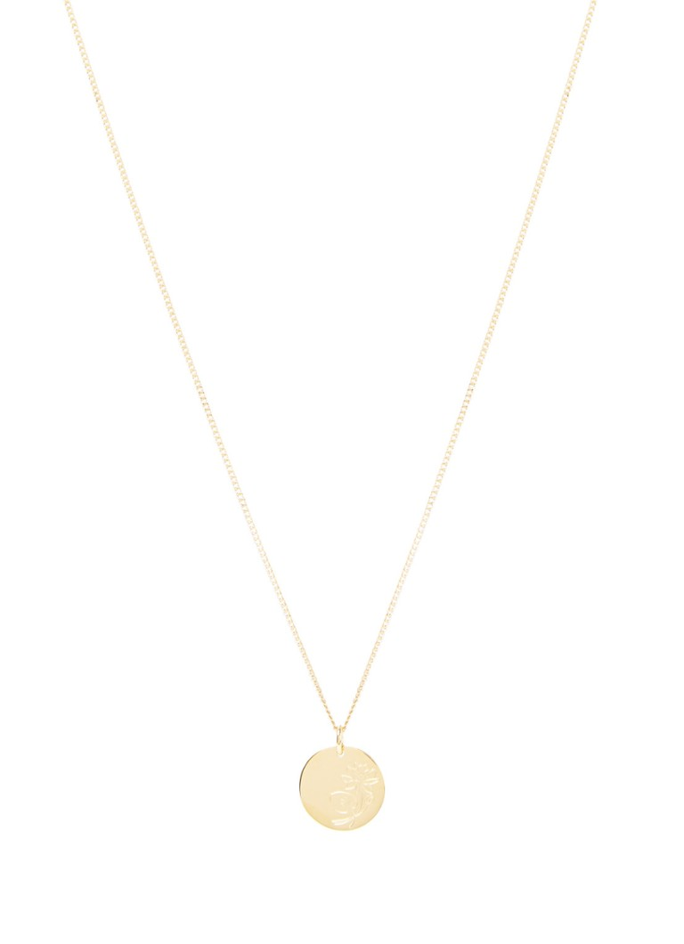 Vedder & Vedder - Birthflower Waterlelie ketting Juli verguld - Goud