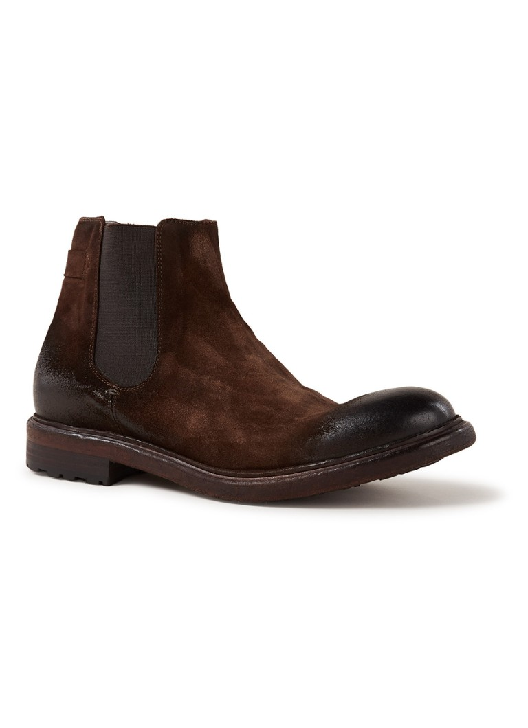 Walk in the Park - Chelsea boot van suède - Donkerbruin