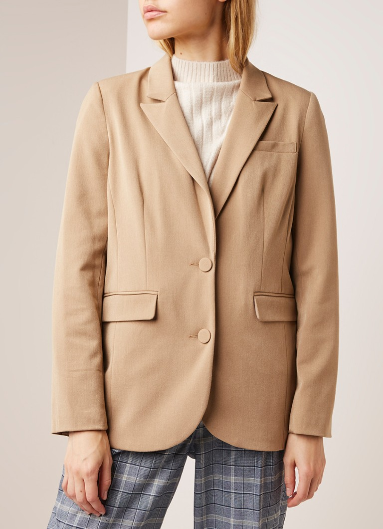 Warehouse - Single breasted blazer met borstzak - Camel