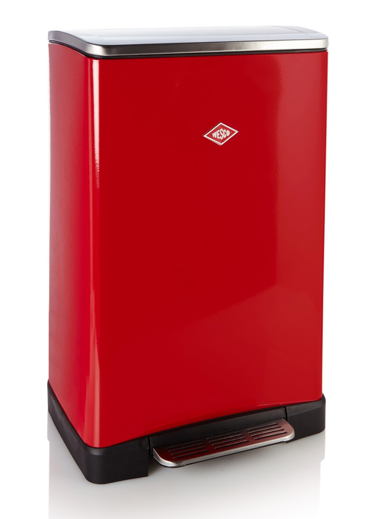 Wesco - One Boy pedaalemmer 40 liter - Rood