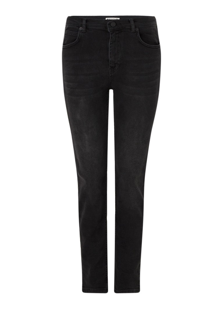 Whistles - Sculpted high waist skinny fit jeans met stretch - Zwart