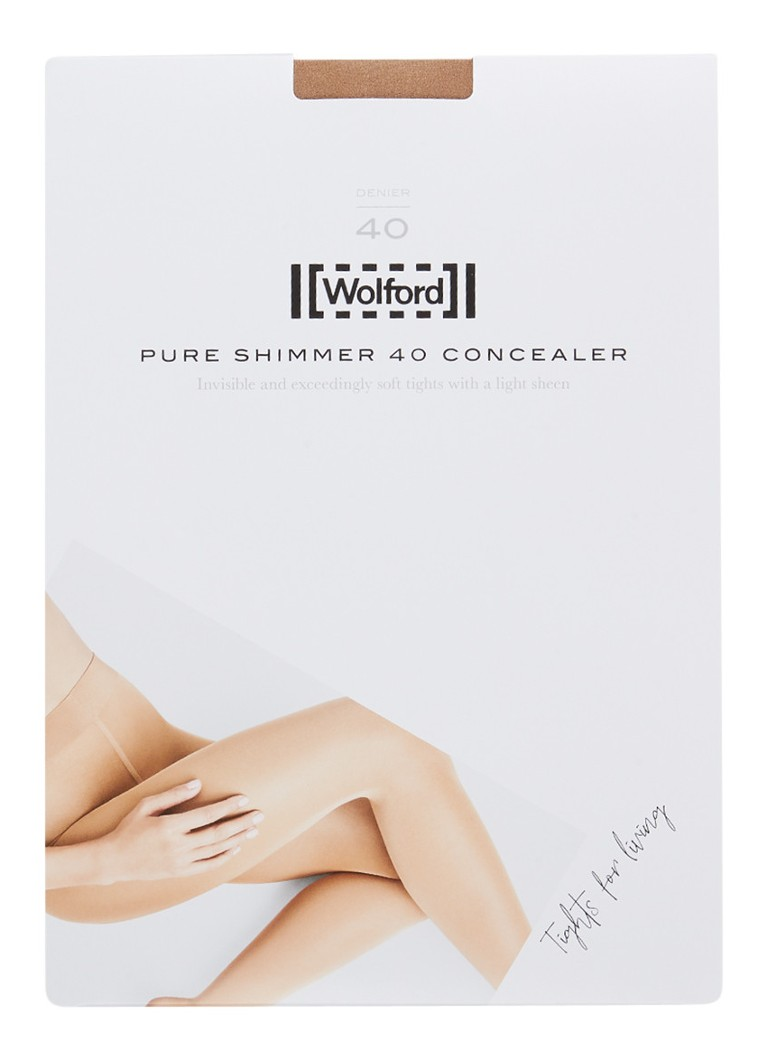 Wolford - Pure Shimmer Concealer panty in 40 denier - Lichtbruin