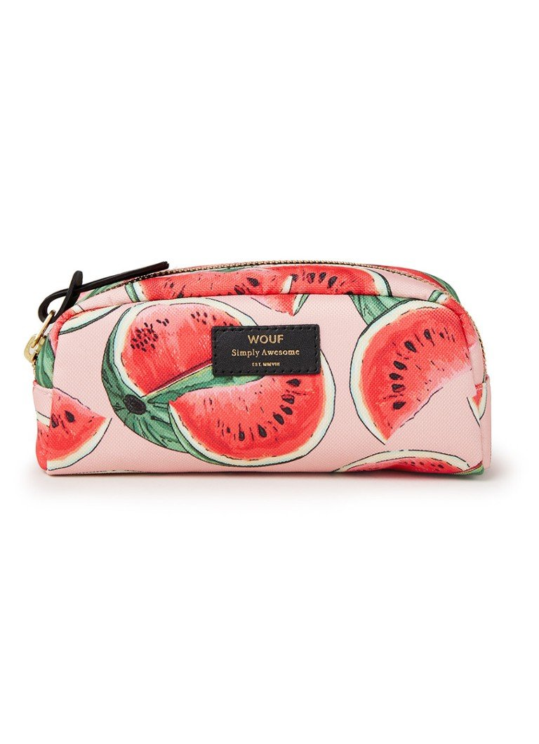 Wouf - Watermelon make-up etui met dessin - Roze