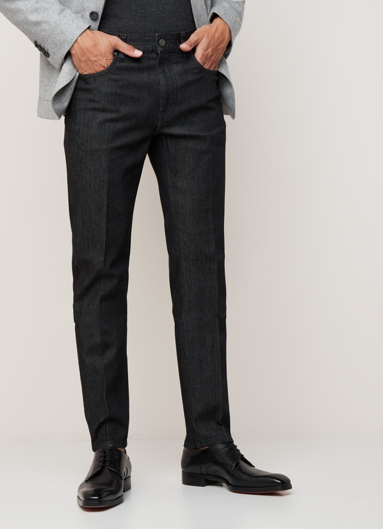 Z Zegna - Slim fit 5-pocket jeans met stretch - Antraciet